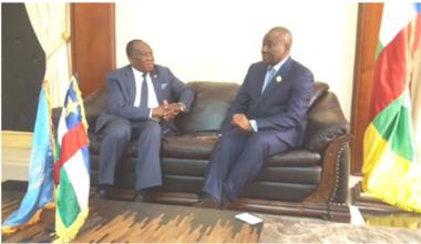 Entretien de M. Fall avec le président de l'Assemblée nationale, Abdoul Karim Meckassoua