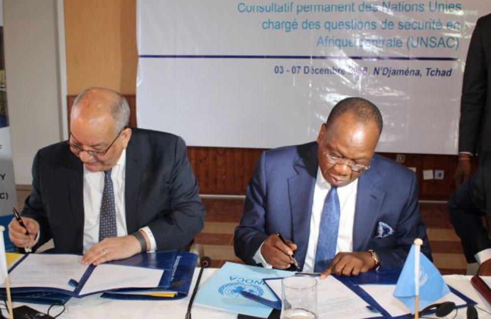 N'Djamena, 7 decembre 2019 - La 47eme réunion ministérielle de l'UNSAC a été marquée par le lancement d'un projet conjoint d'appui à la mise en oeuvre de la convention de Kinshasa.