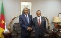 Visite de courtoisie du Chef de l'UNOCA aux autorités camerounaises